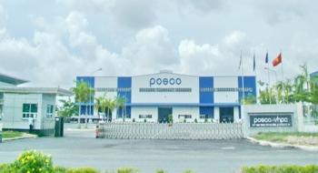 khánh thành nhà máy thép cây và thép hình của cty Posco SS-Vina